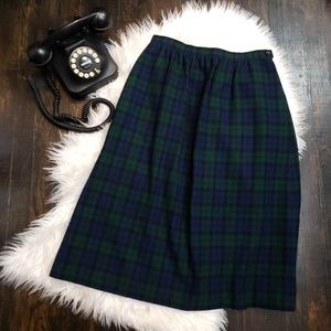 Vintage Pendleton 100% Virgin Wool Tartan Plaid